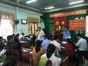 Ông Nguyễn Văn Thành- Giám đốc sở KHCN tỉnh Quảng Ngãi thảo luận tại hội nghị